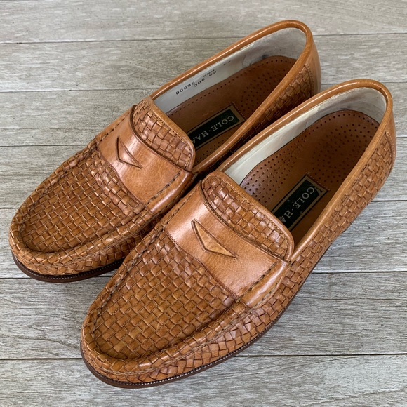 45c3ab1447a Cole Haan Other - Cole Haan Basketweave Penny Loafers 8.5M